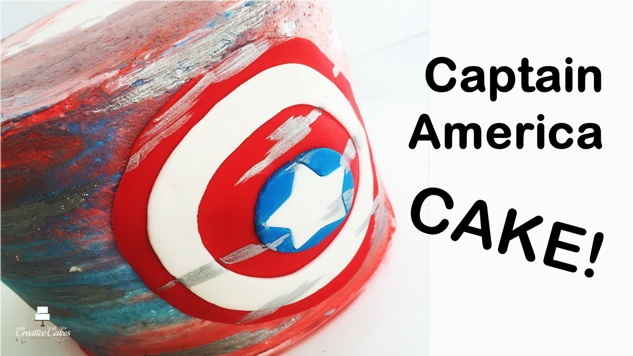 Captain America Shield Cake how to make from Creative Cakes by