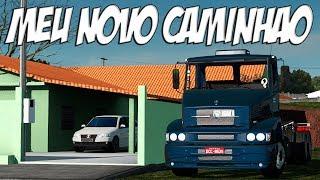 MEU NOVO CAMINHÃO - SERIE ETS 2 VIDA REAL - VOLANTE G27!!!