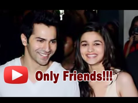 Varun Dhawan - Alia Bhatt Are Not Dating - Confirmed ...