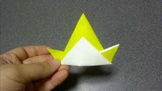とんがりぼうし折り紙 origami pointed Hat