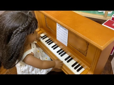 American Girl Doll Plays The Piano