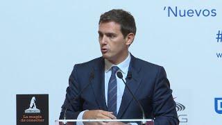 Rivera pide que Pedro Sánchez dé explicaciones sobre su tesis en el Congreso