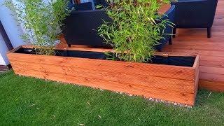 Donica drewniana jak zrobić - budowa