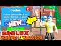 (NEW CODES) MINING SIMULATOR UPDATE AND MYTHICAL SCYTHE! (Roblox)