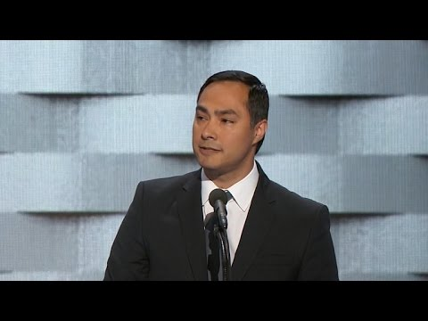 Texas Rep. Joaquin Castro speaks at DNC