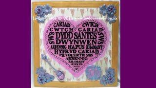 mixed media santes dwynwen the saint of welsh lovers