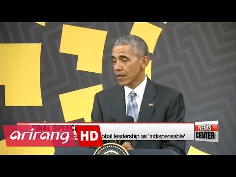 Obama makes final speech as U.S. president at APEC