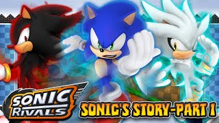 Sonic Rivals (PSP) - Sonic's Story Part 1 Forest Falls Zone