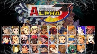 Classic PS1 Game Street Fighter Alpha 3 on PS3 in HD 720p