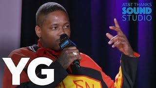 YG talks about being a father, his unique sense of style, 6ix9ine, Trump & more!