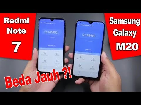 Samsung Galaxy M20 Vs Redmi Note 7 Indonesia - Perbandingan Layar Kamera Baterai Prosesor