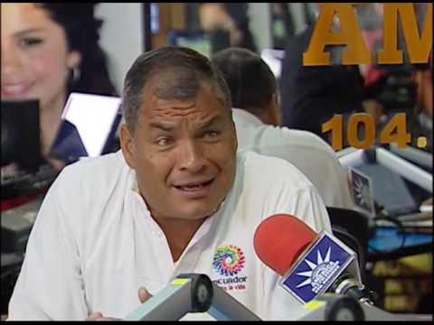 Entrevista del Presidente Rafael Correa en radios América y Majestad