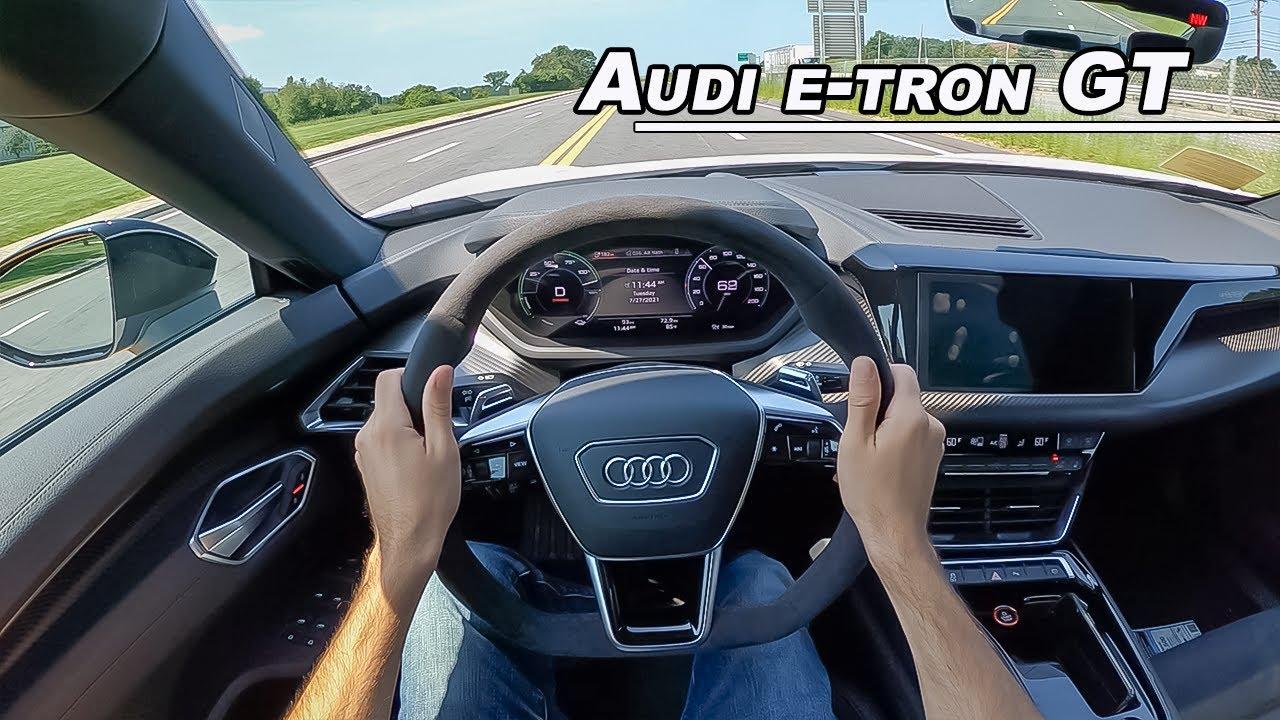 2022 Audi e-tron GT quattro - 522hp Electric Executive Sport Sedan (POV Binaural Audio)
