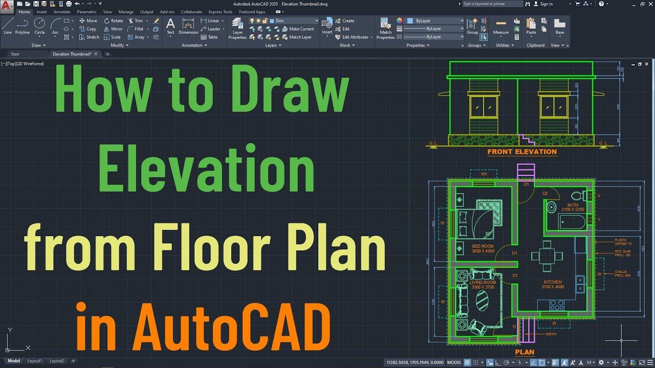 Autocad Floor Plan Tutorial For Beginners 1 Youtube