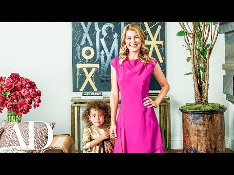 AD Visits: Ellen Pompeo at Home | Celebrity Living | Architectural Digest