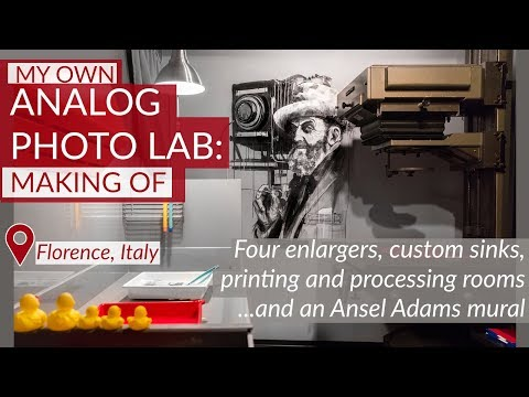 Making Of A Dream Darkroom In Florence, Italy: 4 Enlargers, Custom Sinks And An Ansel Adams Mural!