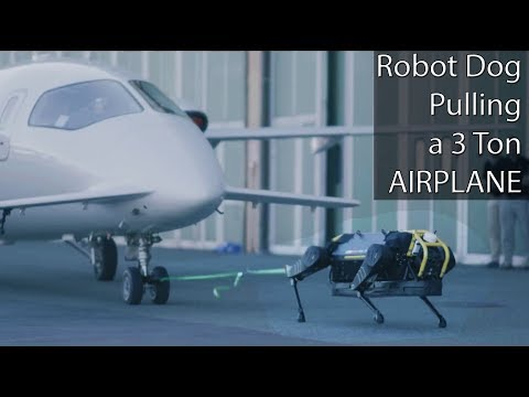 Four Legged Robot Dog Pulling A 3 Ton Airplane – Can You Believe This?