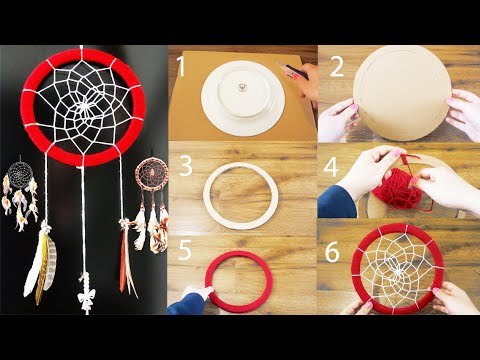 DIY: Super Easy Way to Make a Dreamcatcher | Step by step! Easy tutorial! DIY With DianaTA
