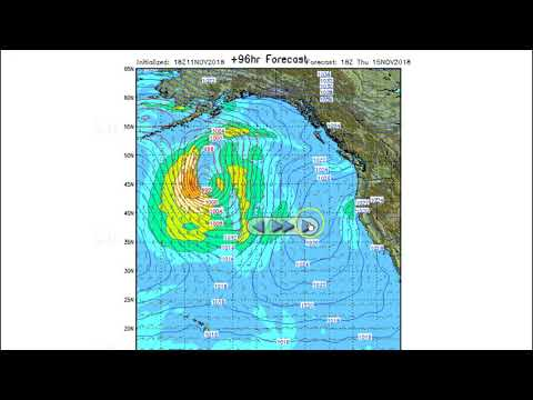 Stormsurf Video Surf and MJO/ENSO Forecast for Sun 11/11/18