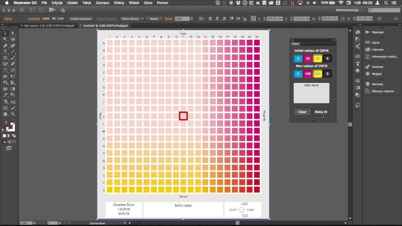 Color Chart Illustrator Youtube