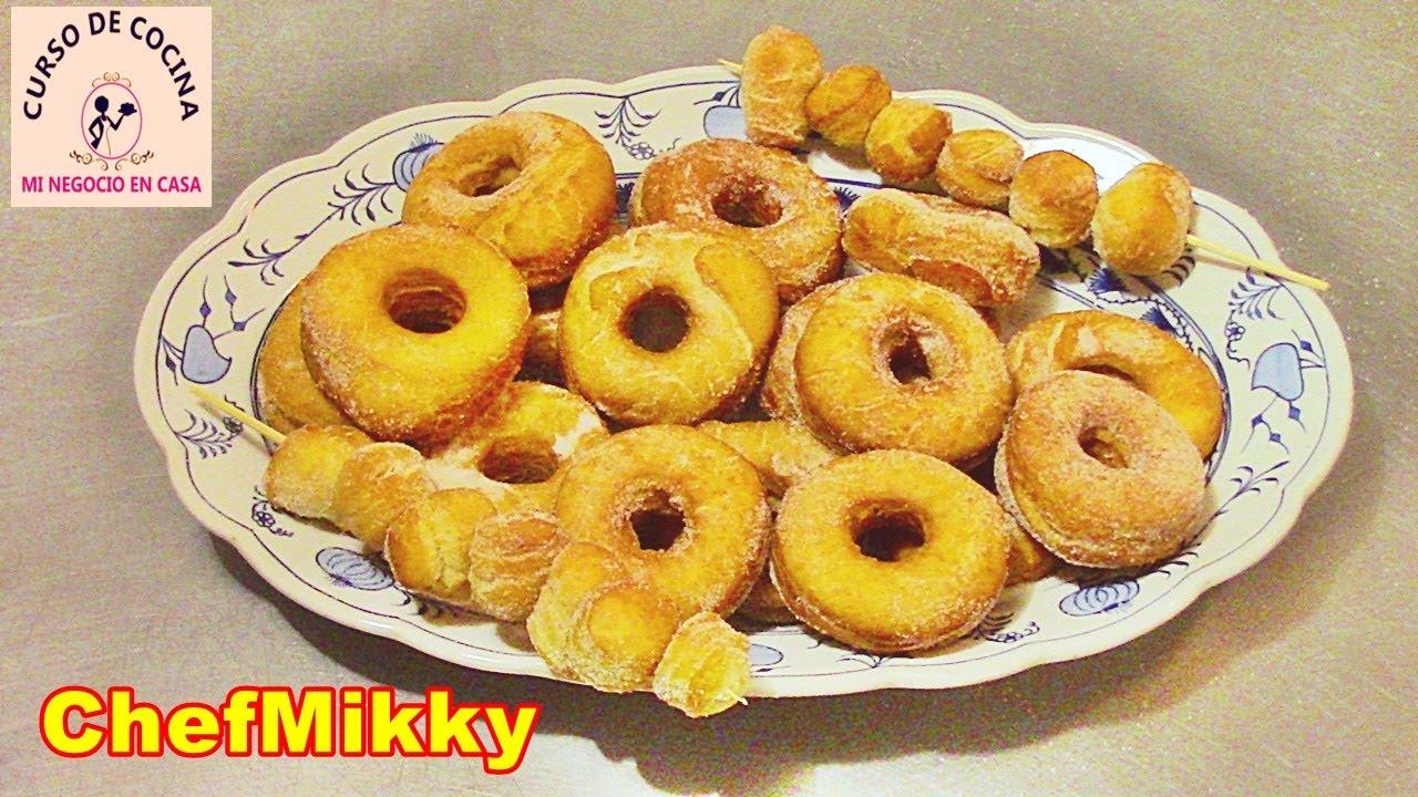 Como hacer donas caseras o rosquillas azucaradas para vender | curso de cocina mi negocio en casa