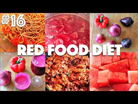 RED FOOD DIET (What I Eat in a Day #22) | #16 (30 Videos in 30 Days) ♥ Cheap Lazy Vegan