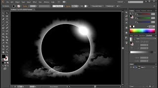 How to Draw a Solar Eclipse in Adobe Illustrator