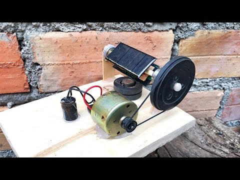 Free Solar Energy 100% With DC Motor Generator , DIY Ideas Science Project