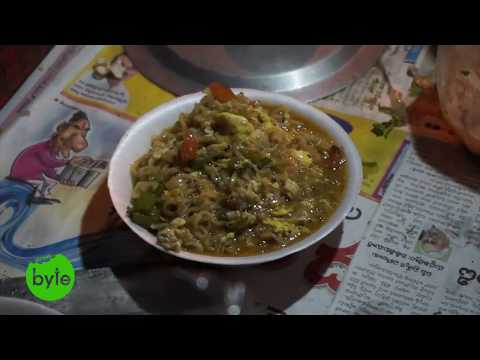 Egg Maggi Nooodles Street Food Style, Indian Street Food