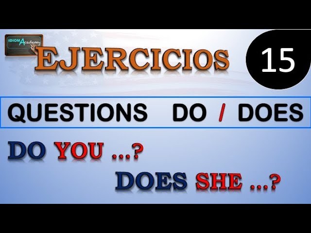 Ejercicios De Ingles 15 Formando Preguntas Presente Simple Verbo To Be Verb To Be Do Does Youtube
