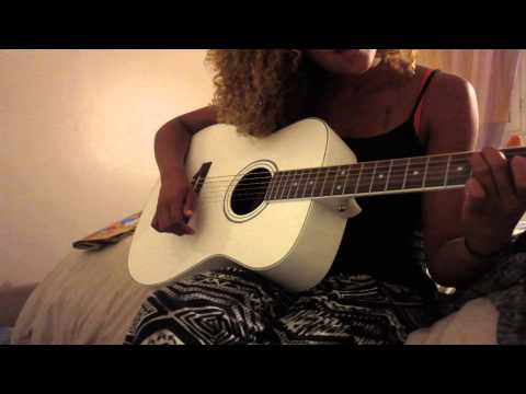 TRYING to play Guitar lol ( Ariana Grande - Break Free )
