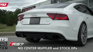 APR RS7 Catback Exhaust System without Center Muffler