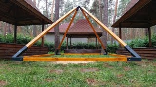 Пирамида для медитации из дерева и металла. Pyramid for meditation from wood and metal
