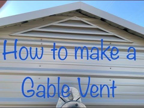 How To Make A Gable Louver Vent