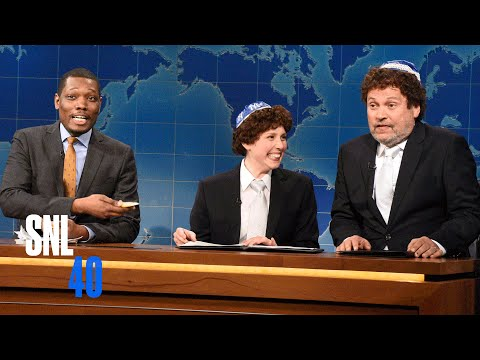 Thumbnail: Weekend Update: Jacob the Bar Mitzvah Boy Explains Passover With His Dad - SNL