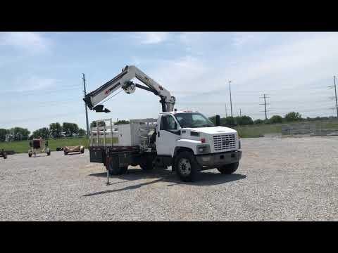 2003 GMC C7500 Flatbed Crane Truck BigIron Auctions