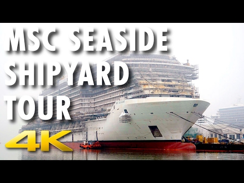 MSC Seaside and MSC Seaview Preview ~ Shipyard Tour and Coin Ceremony ~ MSC Cruises [4K Ultra HD]