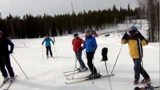 Горные лыжи.SkiFactor,обучение технике катания,карвинг. Pyha.Пюха (Финляндия)мapт 12.mpg