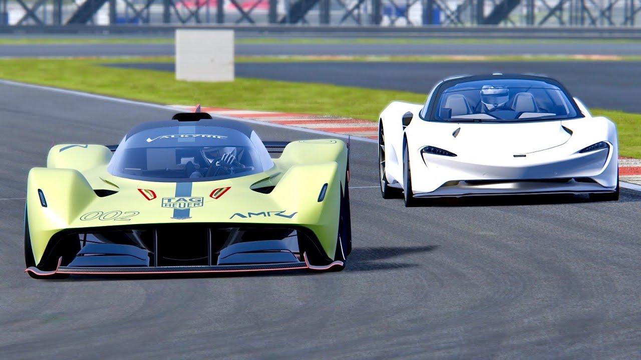 Aston Martin Valkyrie Amr Pro Vs Mclaren Speedtail Silverstone Youtube