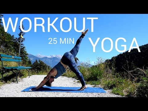 Yoga Workout Flow auf deutsch | kurz & anstrengend | 25 min