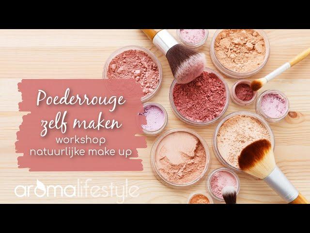 Natuurlijke poederblush/rouge zelf maken