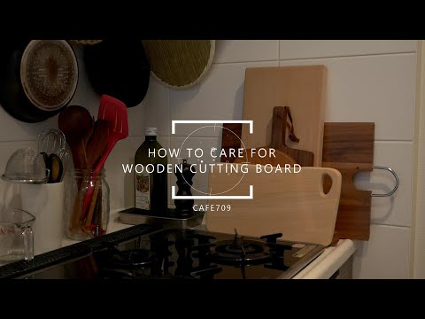 Sub/How to clean and care for a wooden cutting board, oiling wooden table and chairs, house work day