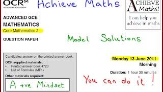 A-level Maths OCR June 2011 Core Mathematics 3 C3 (complete paper)