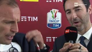 """ALLEGRI INCAZZATO NERO contro SCONCERTI: """"VI ASPETTO LI', IMPARATE A FARE DOMANDE"""" - Juve-Milan 4-0"""