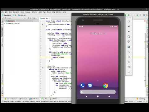 Flutter 39 - Date and Time pickers - YouTube