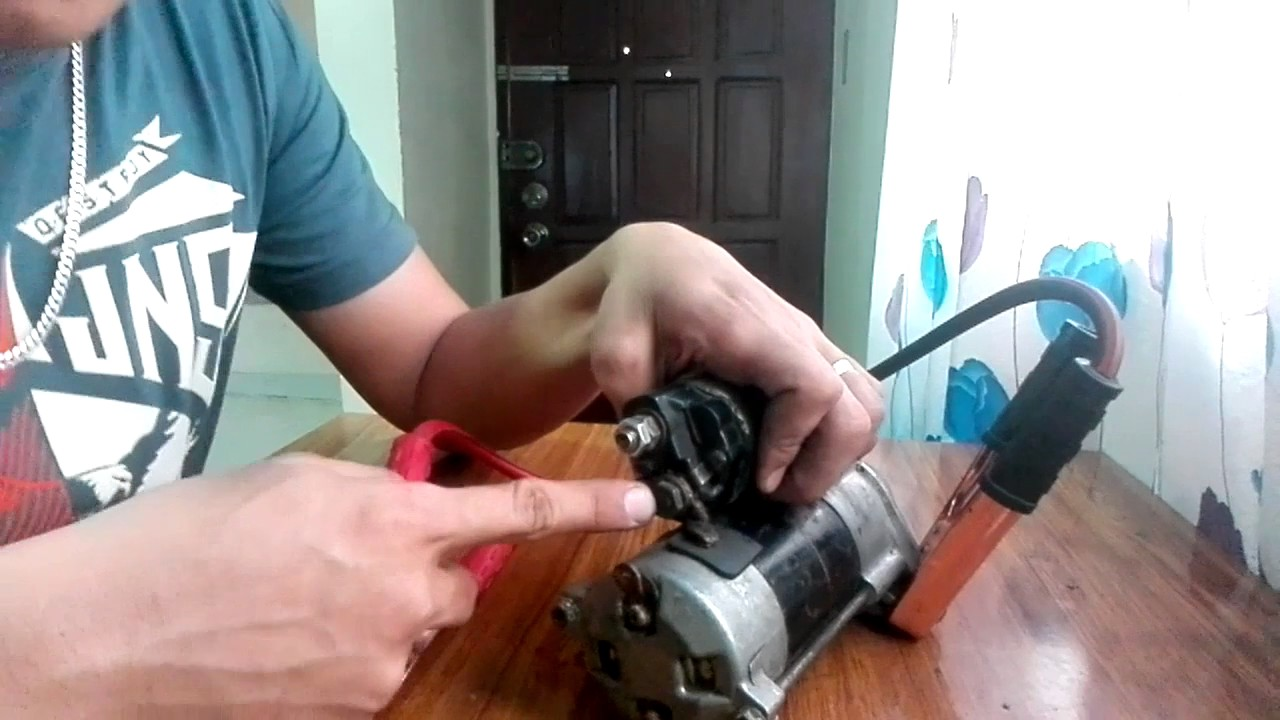 How To  Starter Motor And Solenoid Testing