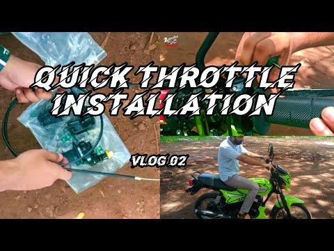How To Install Quick/Power Throttle  on Suzuki 2 Stroke Series | Malayalam | Vlog 02