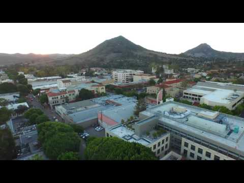 San Luis Obispo Aerial Footage Over Downtown - A Beautiful November Day!