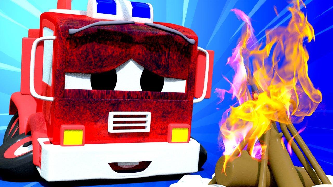 Xe tải kéo cho trẻ em – Bánh xe xe cứu hỏa Frank nhí bị chảy! – Thành phố xe 🚗 phim hoạt hình về xe