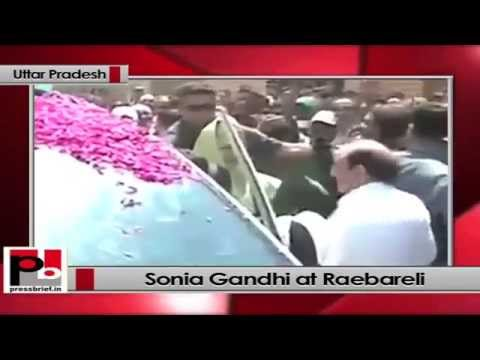 Sonia Gandhi in Raebareli (Uttar Pradesh)